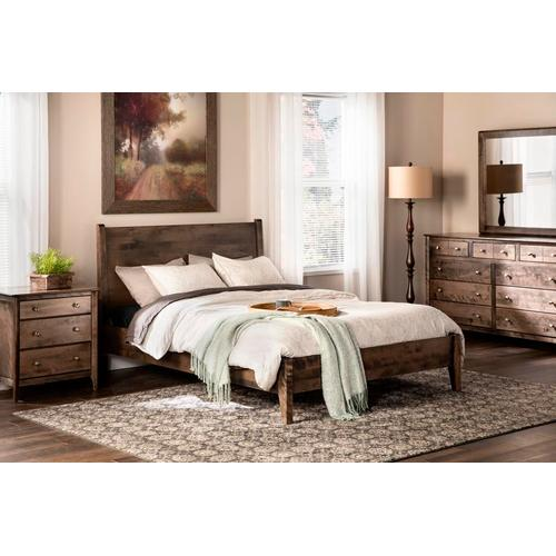 Witmer Furniture - Stratford Sleigh Bed in Birch Color #45