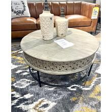 See Details - Round Cocktail Table & 2 End Tables (SET)