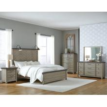 See Details - Queen Bed, Dresser, Mirror, Chest and Nightstand (KING AVAILABLE)