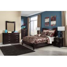 See Details - Zanbury - Queen Panel Bed, Dresser, Mirror, 1 X Nightstand