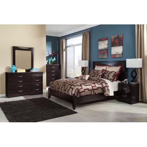 Packages - Zanbury - Queen Panel Bed, Dresser, Mirror, 1 X Nightstand