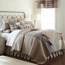 Smokey Square King Quilt Set