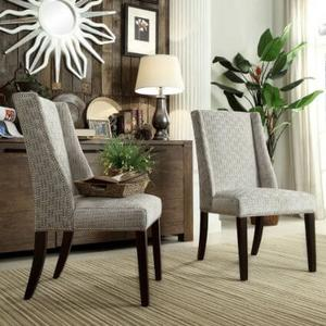 Grey Link Side Chairs