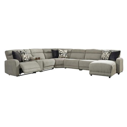 Colleyville  Stone  2 Power Recliner Sectional with Console nad Right Facing Power Chaise