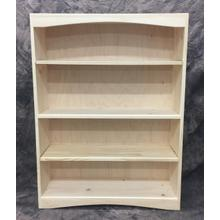 See Details - Maine Made Arched Bookcase 3 X 4 36W X 48H X 12D Pine Unfinished