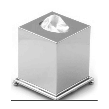 Boutique Tissue Holder in Polished Nickel
