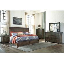 Lakeleigh Cross Buck Queen Bed Dresser and Mirror