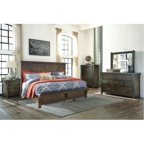 Lakeleigh Cross Buck Queen Bed Dresser and Mirror
