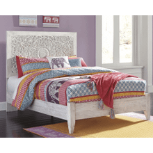 See Details - Paxberry- White Wash- Full Panel Bed