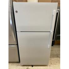See Details - CLEARANCE SPECIAL - GE® ENERGY STAR® 21.9 Cu. Ft. Top-Freezer Refrigerator  Active Model (Good stock out of box item)