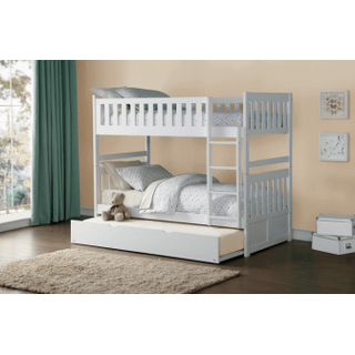 Galen Bunk Bed Twin on Twin with Twin Trundle