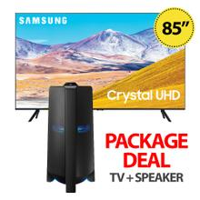 Samsung 85 Inch Crystal UHD 4K Smart TV & MX-T70 Sound Tower