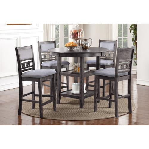 """New Classic Furniture - """"GIA"""" GRAY TABLE SET    D1701GRY"""
