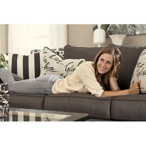 """Signature Design By Ashley - 96"""" Sofa in Charcoal Gray with Detached Scatter-Back Cushions"""
