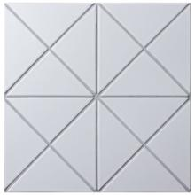 4 Cross Junction Matte White Triangle Tile For Wall Design