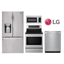 LG Kitchen w/ 28 cu. ft. French Door Smart Refrigerator with Wi-Fi Enabled in Stainless Steel