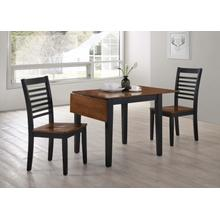 3 Piece 2 Tone Drop Leaf Dining Set