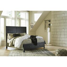 Noorbrook 4 Pc. Storage Cal King Bedroom Set Black