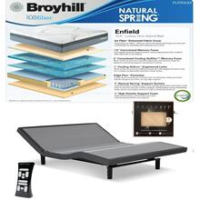 See Details - Leggett & Platt S-Cape 2.0 Adjustable Bed, Broyhill Enfield Cushion Firm Hybrid Mattress, and set of Dreamfit Sheets included with this listing.