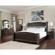 Vachel Qn Poster Bed, Dresser, Mirror and Nightstand
