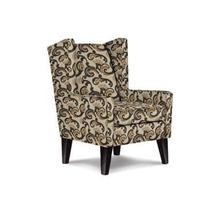 KARLA Wing Back Chair in Rattan Fabric