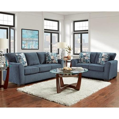 Product Image - 3333-ALUN  Sofa, Loveseat and Chair - Allure Navy