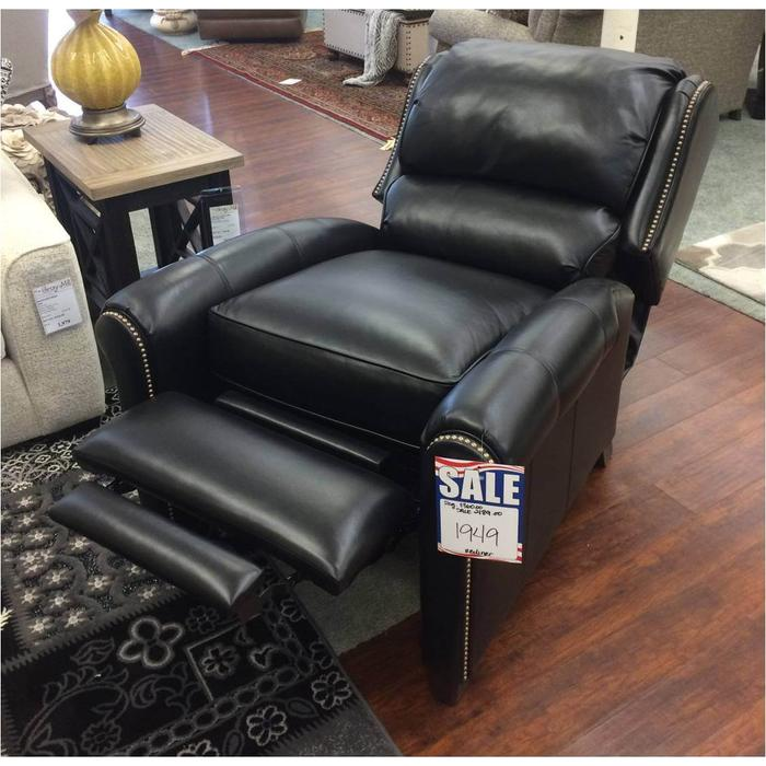 Smith Brothers leather press back recliner