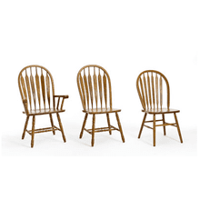 Classic Oak Arrow Back Chairs