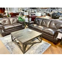 Torino Dark Brown Leather Sofa & Loveseat