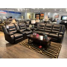 See Details - Ashley Vacherie Black Reclining Sofa and Loveseat