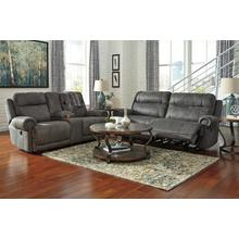 Austere- Gray Power Reclining Sofa and Loveseat