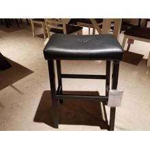 "29"" Black Vinyl Seat Barstool"