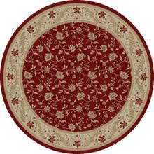 "Serenity / Red - 1130 D Size 5'3"" ROUND"