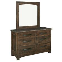 View Product - Farmhouse 6 Drawer Dresser