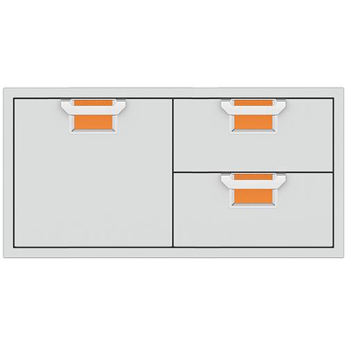 """Aspire By Hestan 42"""" Combo Door/Drawer Citra Orange"""