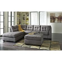 Maier- Charcoal 2pc Sectional and Ottoman