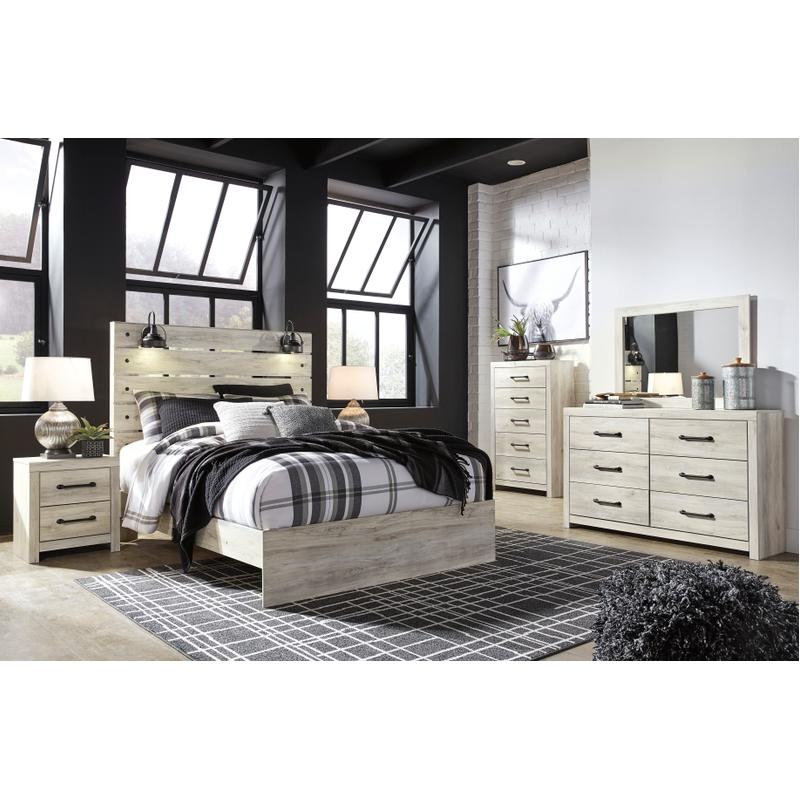 View Product - Cambeck - Whitewash 6 Piece Bedroom Set