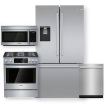 "See Details - Easy Clean Stainless Steel 36"" French Door Refrigerator & 30"" Dual Fuel Slide-in Range- 4 Piece Package"