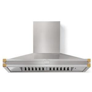 Lacornue Cornufe - Stainless Steel Cornufe 110 Hood with Polished Brass Accents