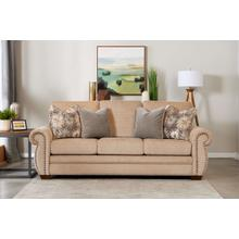 Wood House Upholstery Auburn Sofa - Showbiz Stone