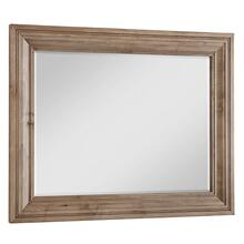 Natural Maple Wide Landscape Mirror