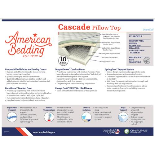 Corsicana - Cascade - Plush - Pillow Top