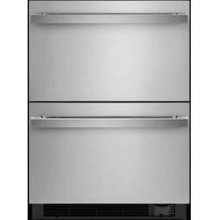 """See Details - CLOSEOUT SPECIAL! Out of box special! NOIR 24"""" Double Drawer Refrigerator/Freezer; Manufacturer warranty: Model JUCFP242HM, SN:EK91001525"""