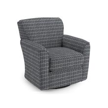 View Product - Kaylee Swivel Glider Chair - Charcoal