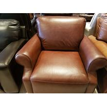 See Details - Natuzzi Brown Leather Arm Chair