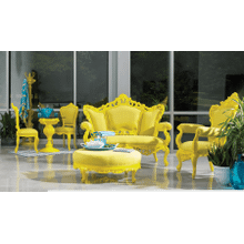 Soleil Yellow Arm Chair