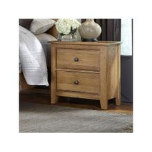 Light Oak Loft Nightstand
