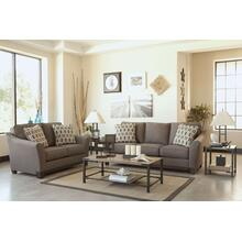 Janley Starter Living Room Set - 6pcs - Sofa, Tables & Lamps