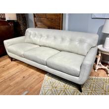 See Details - Stallion Ivory Leather Sofa