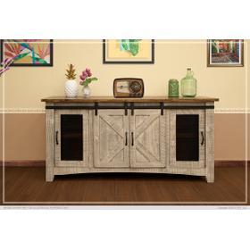 """See Details - Pueblo 4 Doors, 70"""" TV Stand Gray"""